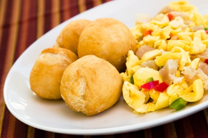 Ackee and fried dumplings.  https://www.wocdetox.com/about-me.html
