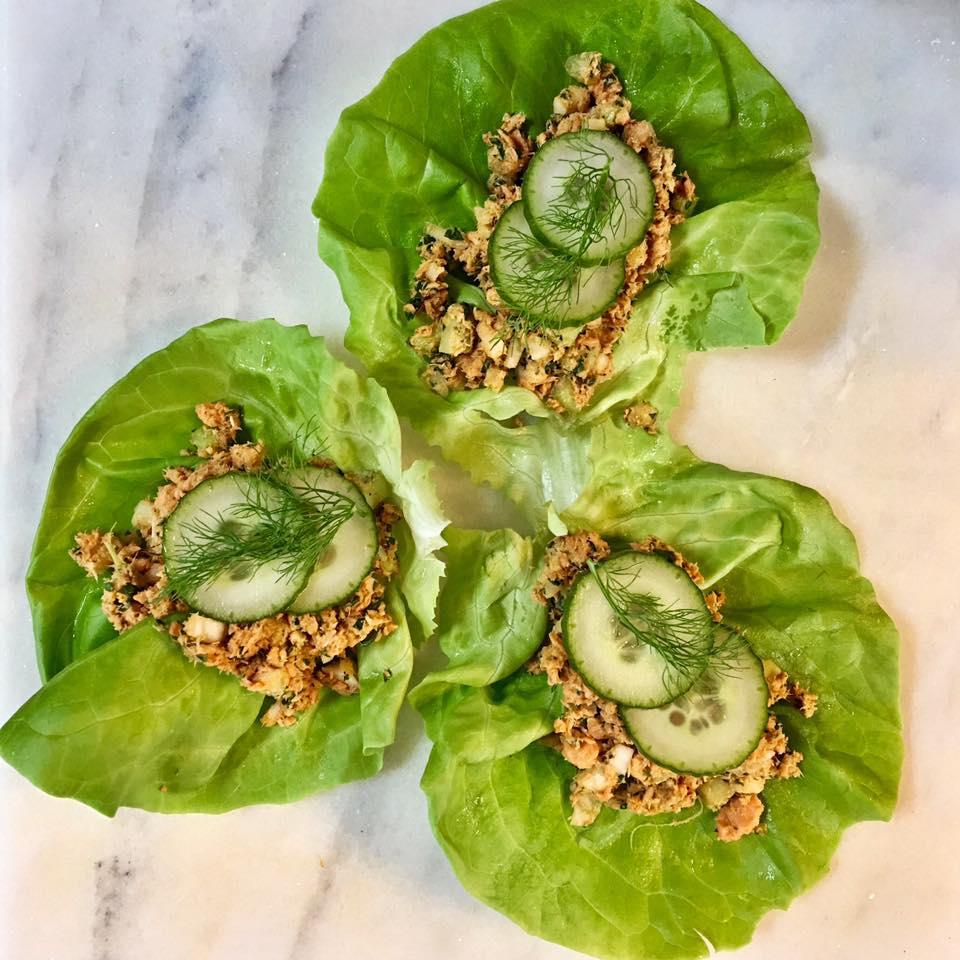 Curried salmon in lettuce leaf. https://www.wocdetox.com/body-detox-secrets.html