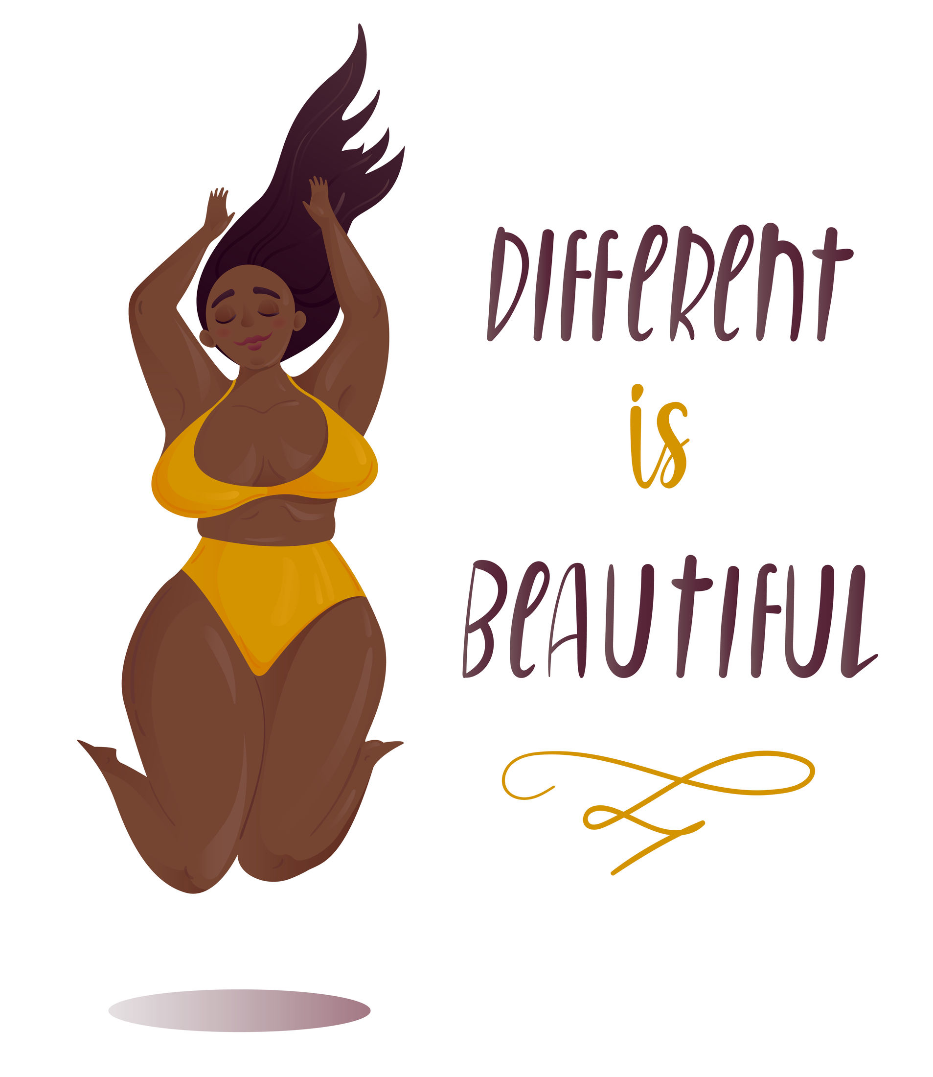 Different is beautiful -  Women of color.  https://www.wocdetox.com/women-of-color.html