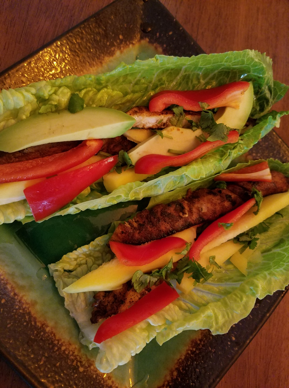 Mango chicken salad. https://www.wocdetox.com/summer-5-day-detox.html