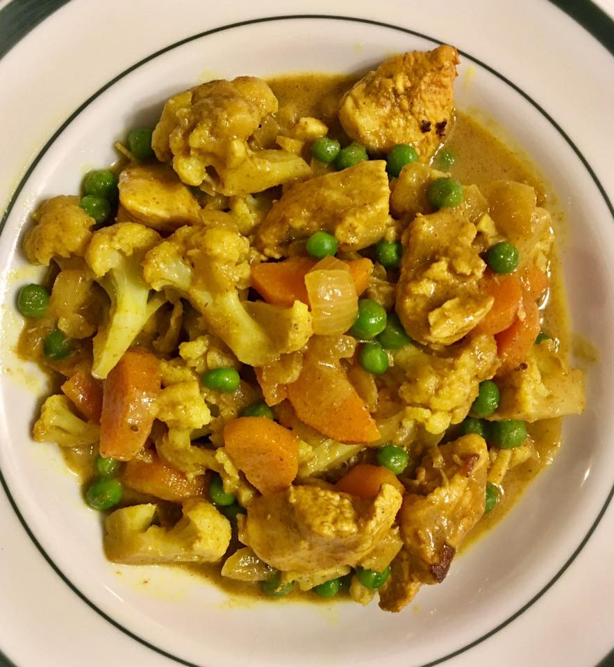 Curry Chicken with beans.   https://www.wocdetox.com/winter-5-day-detox.html