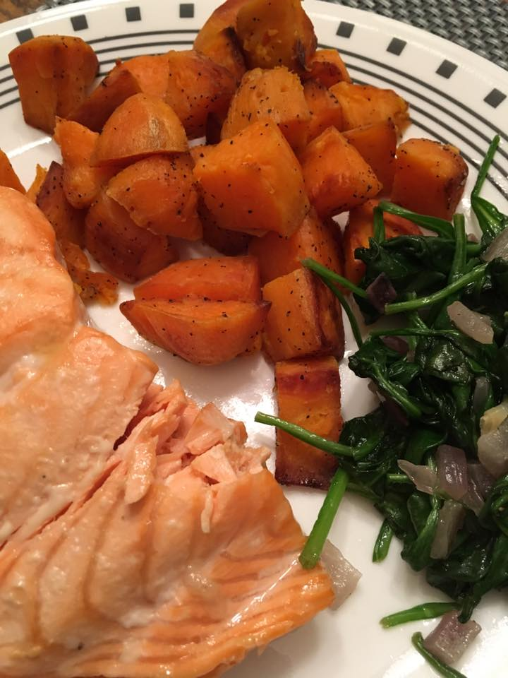 Baked Salmon.  https://www.wocdetox.com/winter-5-day-detox.html