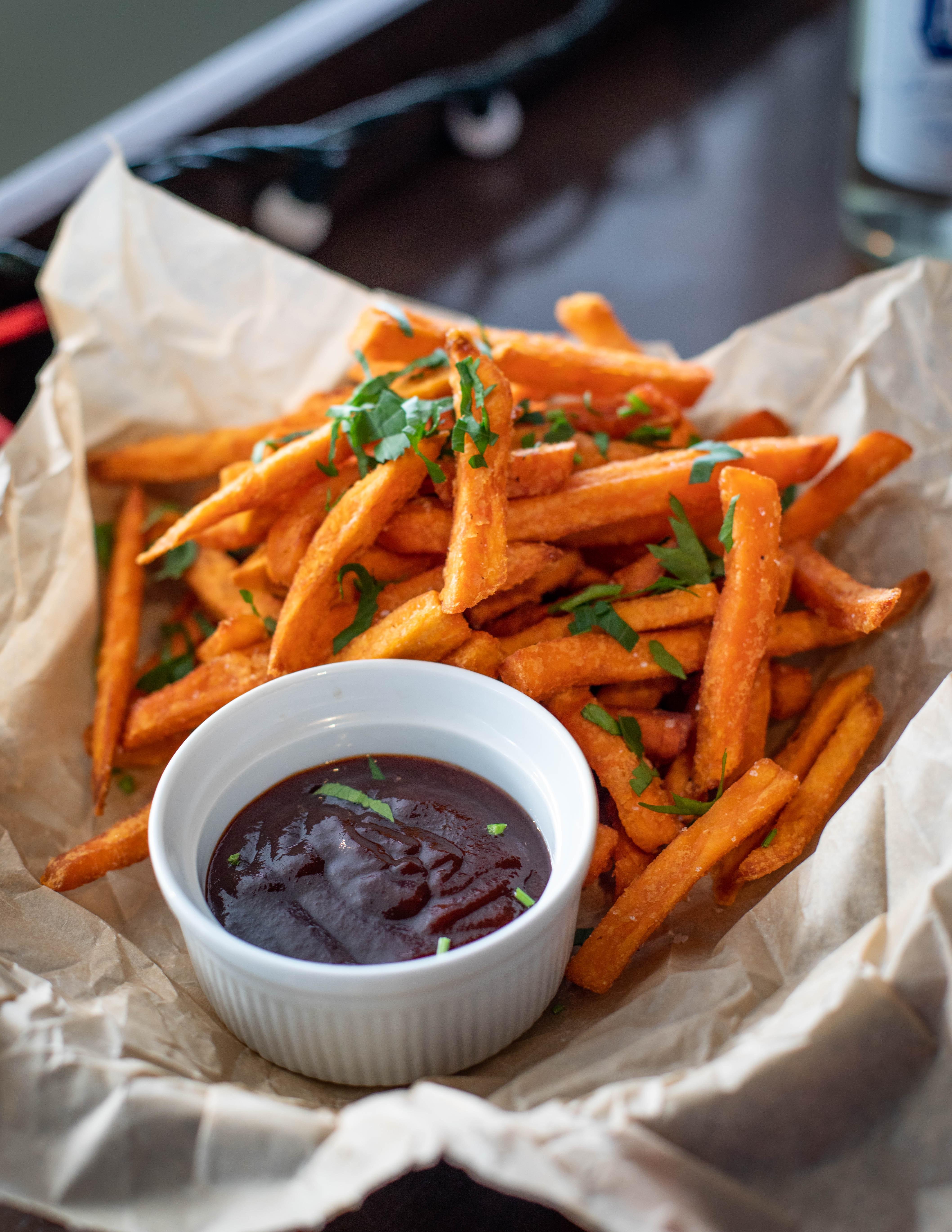 Sweet potato chips.  https://www.wocdetox.com/body-detox-facts.html